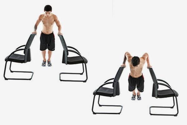 تمارين عضلات الصدر للمبتدئين فى المنزل